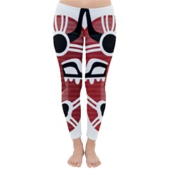 Africa Mask Face Hunter Jungle Devil Classic Winter Leggings
