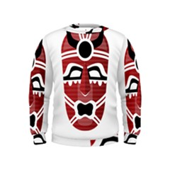 Africa Mask Face Hunter Jungle Devil Kids  Sweatshirt