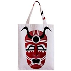 Africa Mask Face Hunter Jungle Devil Zipper Classic Tote Bag