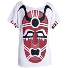 Africa Mask Face Hunter Jungle Devil Women s Oversized Tee