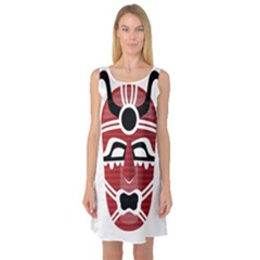 Africa Mask Face Hunter Jungle Devil Sleeveless Satin Nightdress