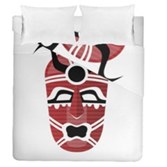 Africa Mask Face Hunter Jungle Devil Duvet Cover Double Side (queen Size)