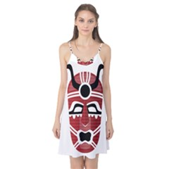 Africa Mask Face Hunter Jungle Devil Camis Nightgown