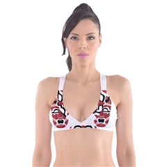 Africa Mask Face Hunter Jungle Devil Plunge Bikini Top