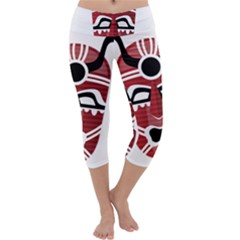 Africa Mask Face Hunter Jungle Devil Capri Yoga Leggings