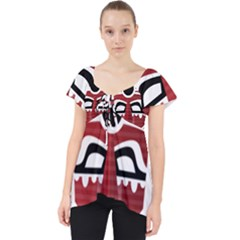 Africa Mask Face Hunter Jungle Devil Lace Front Dolly Top