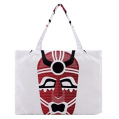 Africa Mask Face Hunter Jungle Devil Zipper Medium Tote Bag