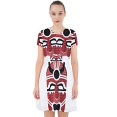 Africa Mask Face Hunter Jungle Devil Adorable In Chiffon Dress