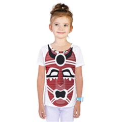 Africa Mask Face Hunter Jungle Devil Kids  One Piece Tee