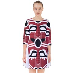 Africa Mask Face Hunter Jungle Devil Smock Dress