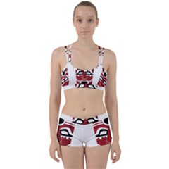 Africa Mask Face Hunter Jungle Devil Women s Sports Set