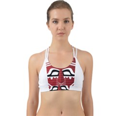 Africa Mask Face Hunter Jungle Devil Back Web Sports Bra