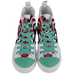 Africa Mask Face Hunter Jungle Devil Women s Mid Top Canvas Sneakers