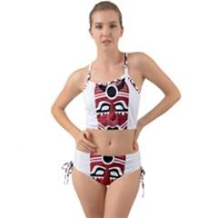 Africa Mask Face Hunter Jungle Devil Mini Tank Bikini Set