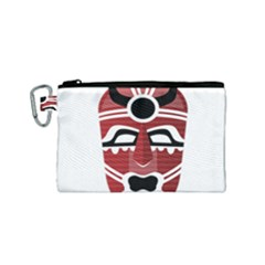 Africa Mask Face Hunter Jungle Devil Canvas Cosmetic Bag (small)