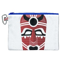 Africa Mask Face Hunter Jungle Devil Canvas Cosmetic Bag (xl)
