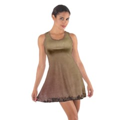 Brown Retro Cotton Racerback Dress