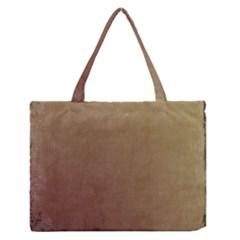 Brown Retro Zipper Medium Tote Bag