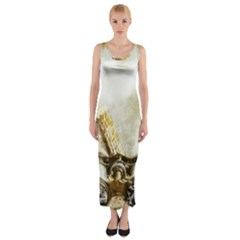 Background 1660942 1920 Fitted Maxi Dress