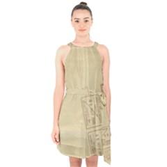 Background 1659638 1920 Halter Collar Waist Tie Chiffon Dress