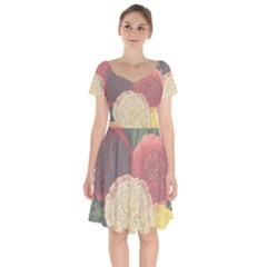 Flowers 1776434 1280 Short Sleeve Bardot Dress