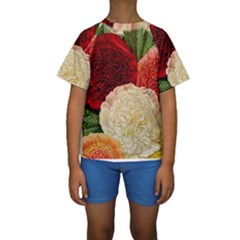 Flowers 1776584 1920 Kids  Short Sleeve Swimwear