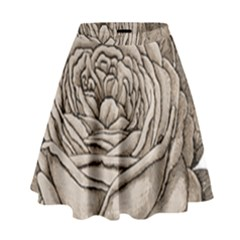 Flowers 1776626 1920 High Waist Skirt