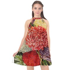 Flowers 1776541 1920 Halter Neckline Chiffon Dress