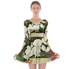 Flowers 1776617 1920 Long Sleeve Skater Dress