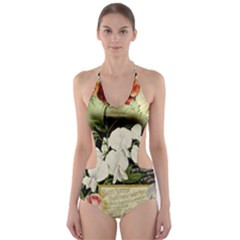 Flowers 1776617 1920 Cut Out One Piece Swimsuit