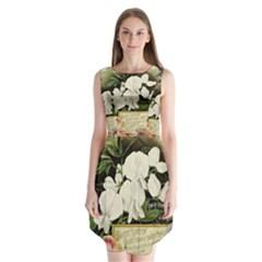Flowers 1776617 1920 Sleeveless Chiffon Dress