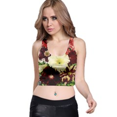 Flowers 1776585 1920 Racer Back Crop Top