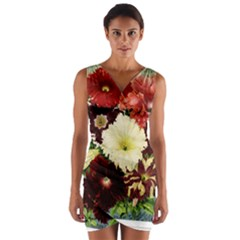 Flowers 1776585 1920 Wrap Front Bodycon Dress
