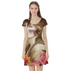 Vintage 1646083 1920 Short Sleeve Skater Dress