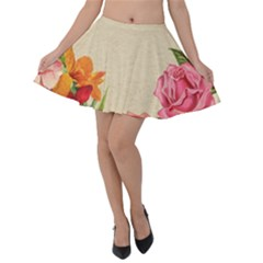 Flower 1646035 1920 Velvet Skater Skirt