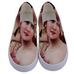 Vintage 1501576 1280 Kids  Canvas Slip Ons