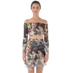 Vintage 1501558 1280 Off Shoulder Top With Skirt Set