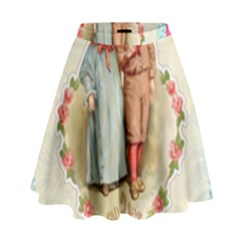 Kids Heart High Waist Skirt