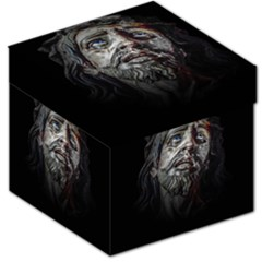 Jesuschrist Face Dark Poster Storage Stool 12