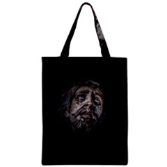 Jesuschrist Face Dark Poster Zipper Classic Tote Bag