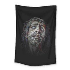 Jesuschrist Face Dark Poster Small Tapestry