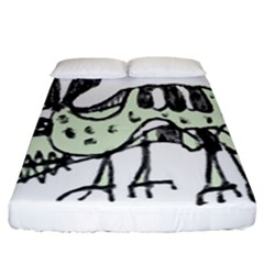 Monster Rat Pencil Drawing Illustration Fitted Sheet (california King Size)