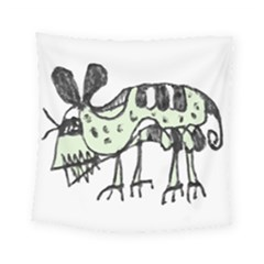 Monster Rat Pencil Drawing Illustration Square Tapestry (small)