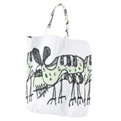 Monster Rat Pencil Drawing Illustration Giant Grocery Zipper Tote
