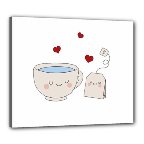 Cute Tea Canvas 24  X 20