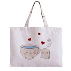 Cute Tea Zipper Mini Tote Bag
