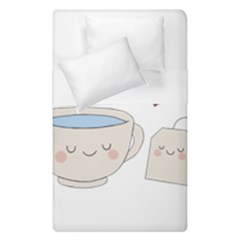 Cute Tea Duvet Cover Double Side (single Size)