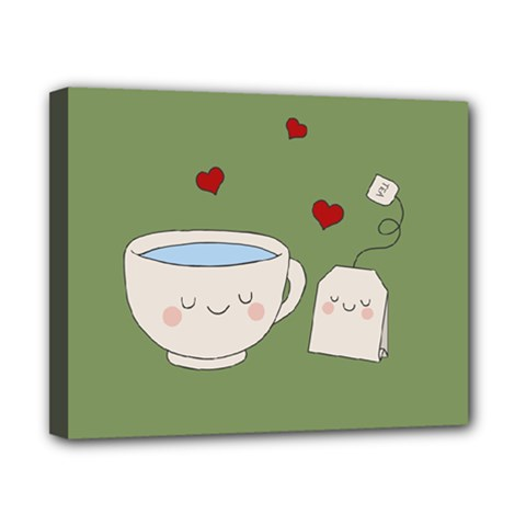 Cute Tea Canvas 10  X 8