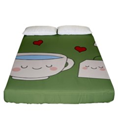 Cute Tea Fitted Sheet (king Size)