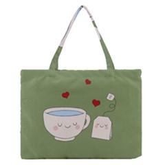 Cute Tea Zipper Medium Tote Bag